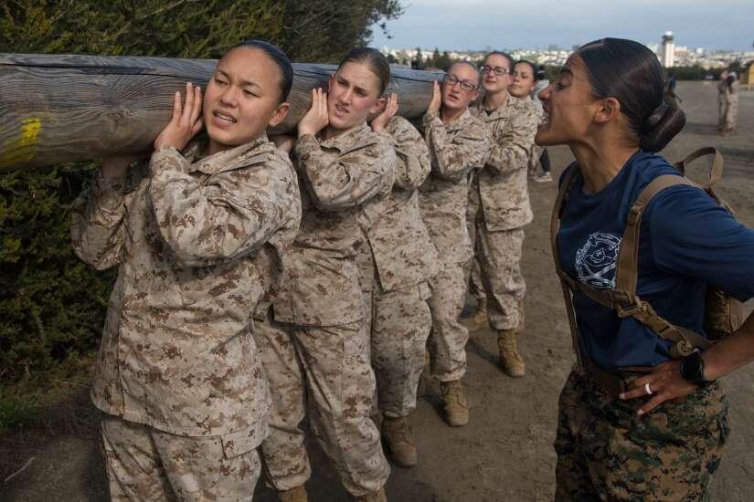 Iowa woman part of first female Marine platoon in San Diego