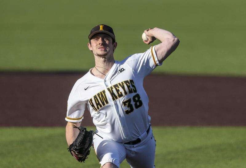 Trenton Wallace throws another gem, Iowa baseball wins home opener over Nebraska