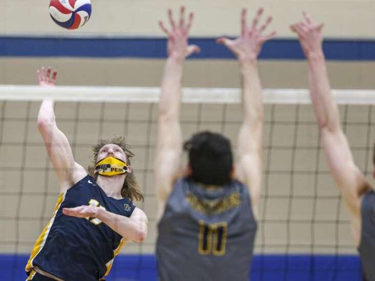 Photos: Mount Mercy men's volleyball vs. William Penn