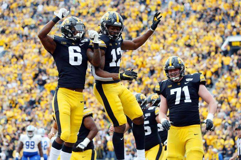 Brandon Smith and Ihmir Smith-Marsette work to be rare Iowa receivers picked in NFL draft