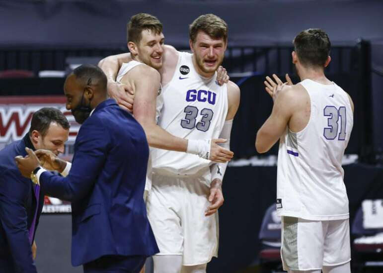 Grand Canyon — the men's basketball team playing Iowa — is really big