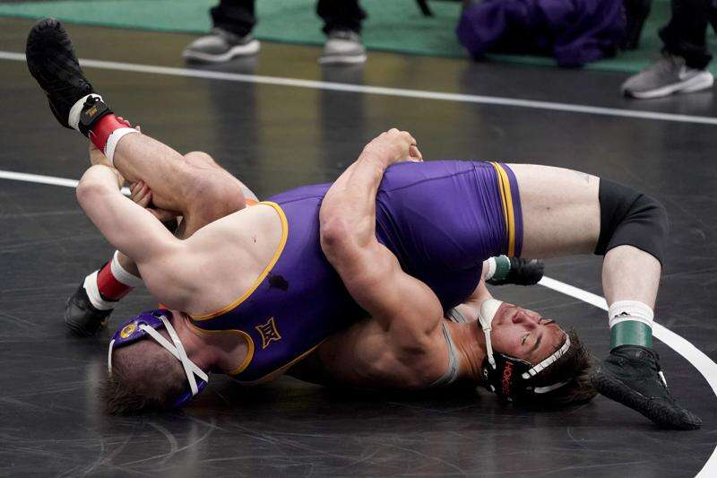 NCAA wrestling notes: UNI All-American Parker Keckeisen finishes 3rd